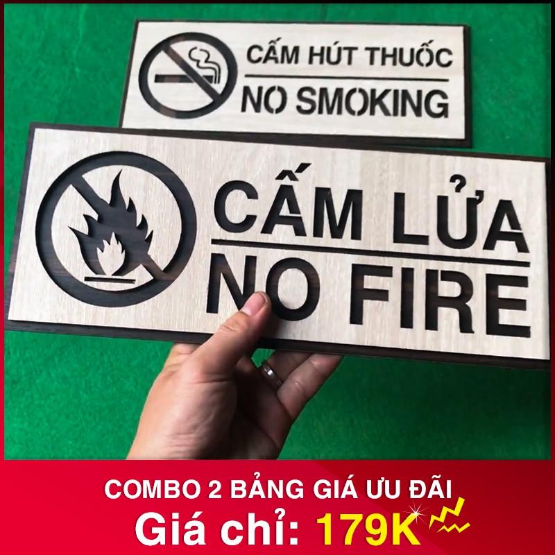 biển báo cấm lửa + cấm thuốc
