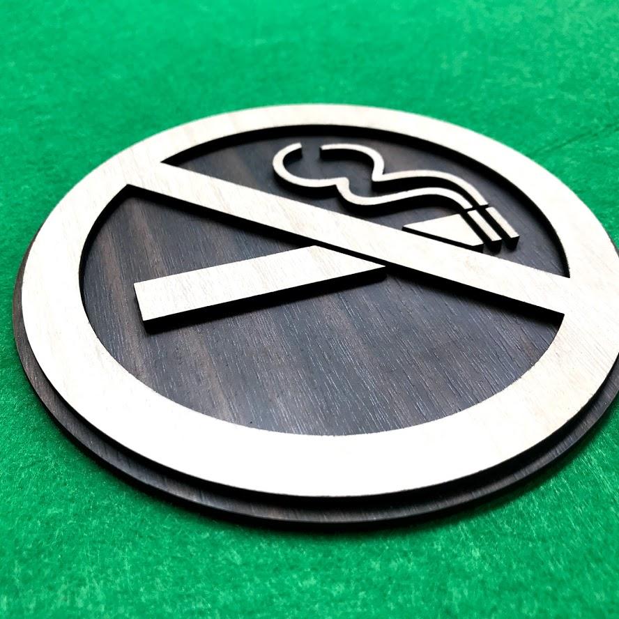 biển cấm thuốc bằng gỗ