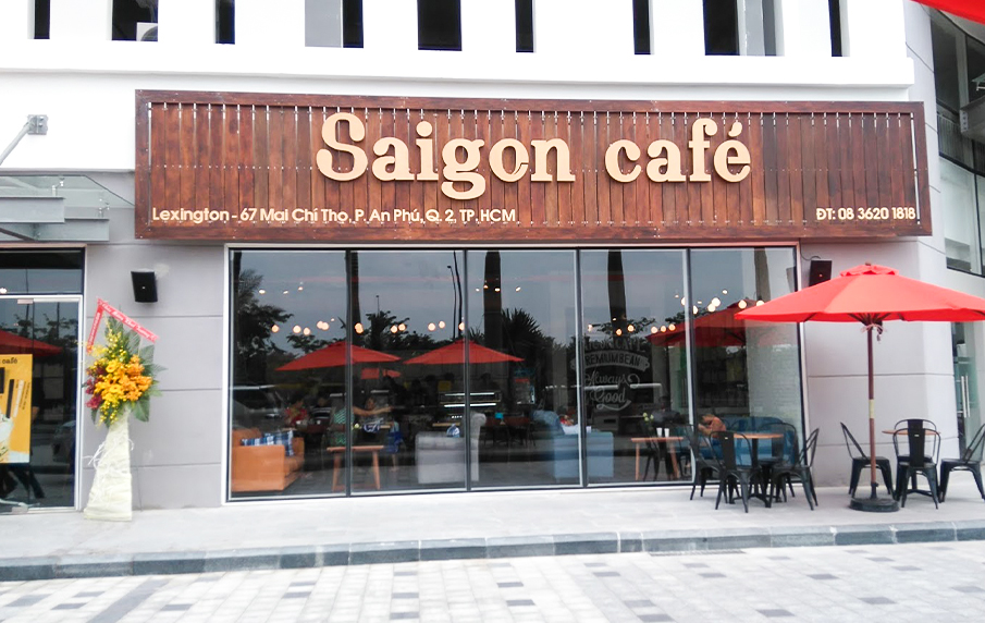 bang hieu sai gon cafe go