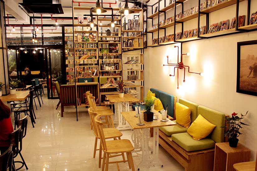 không gian bán trà sữa đẹp 11
