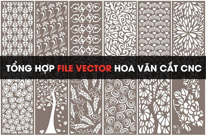 Download Free] Tổng hợp mẫu file vector hoa văn cắt CNC đẹp
