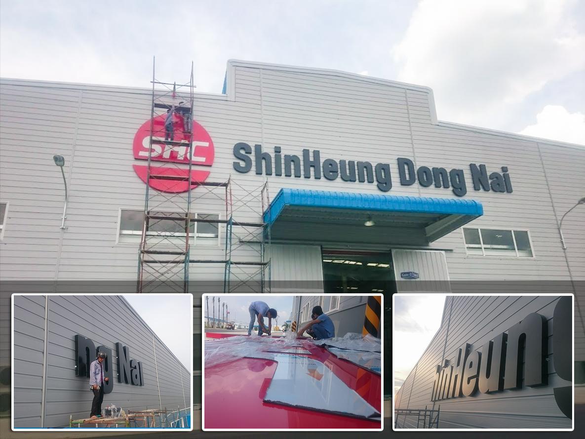 Thi công logo chữ nổi alu tại KCN Đồng Nai